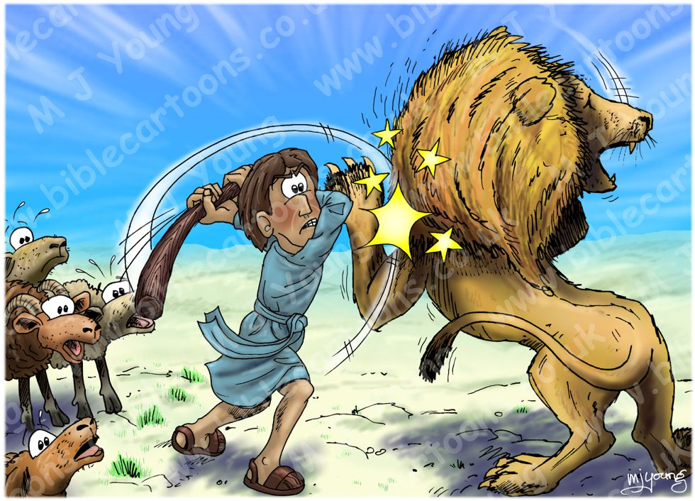 1 Samuel 17 - David & Goliath - Scene 06 - David and the lion