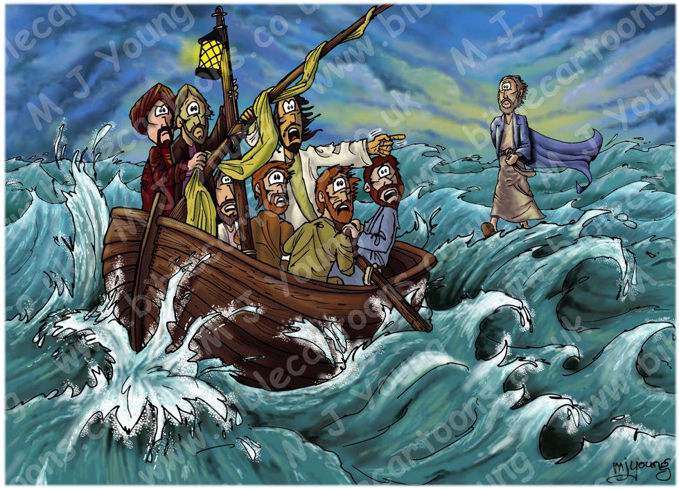 Matthew 14 - Jesus walks on water - Scene 02 - It's a ghost