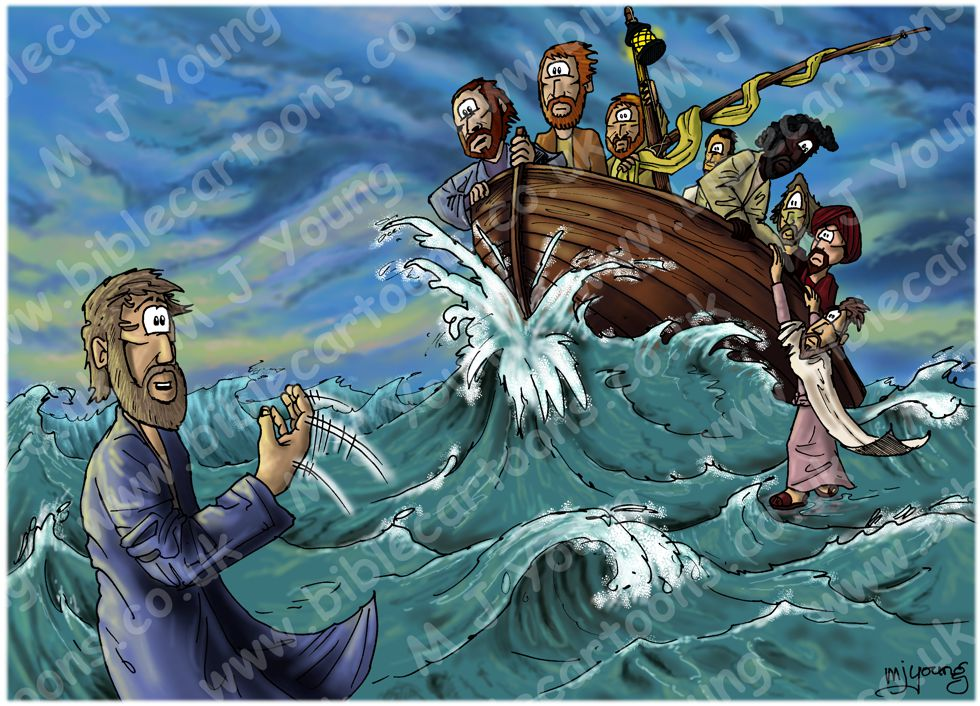 Matthew 14 - Jesus walks on water - Scene 03 - Peters faith