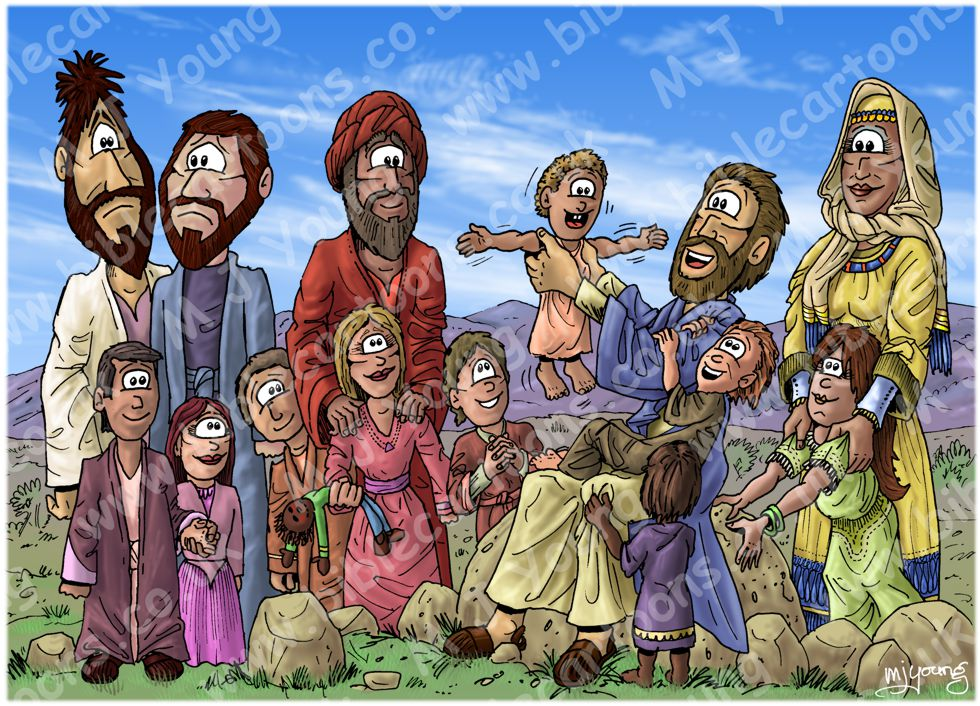 Mark 10 - Jesus blesses children - Scene 02 - Blessing