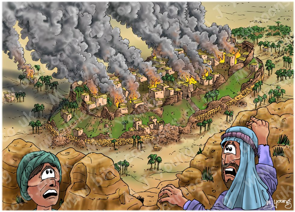 Joshua 6 - Fall of Jericho - scene 06 - Jericho burnt