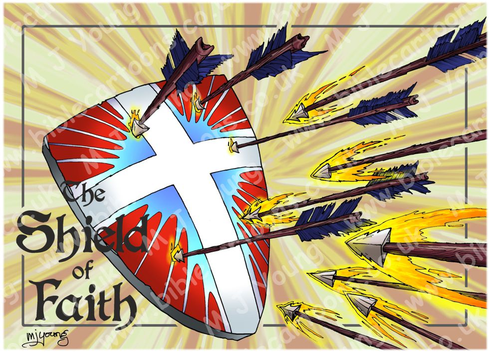 Ephesians 06 - Armour of God  - Shield (Yellow)
