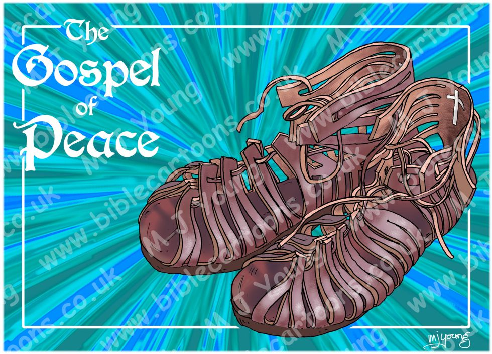 Ephesians 06 - Armour of God  - Shoes (Blue)