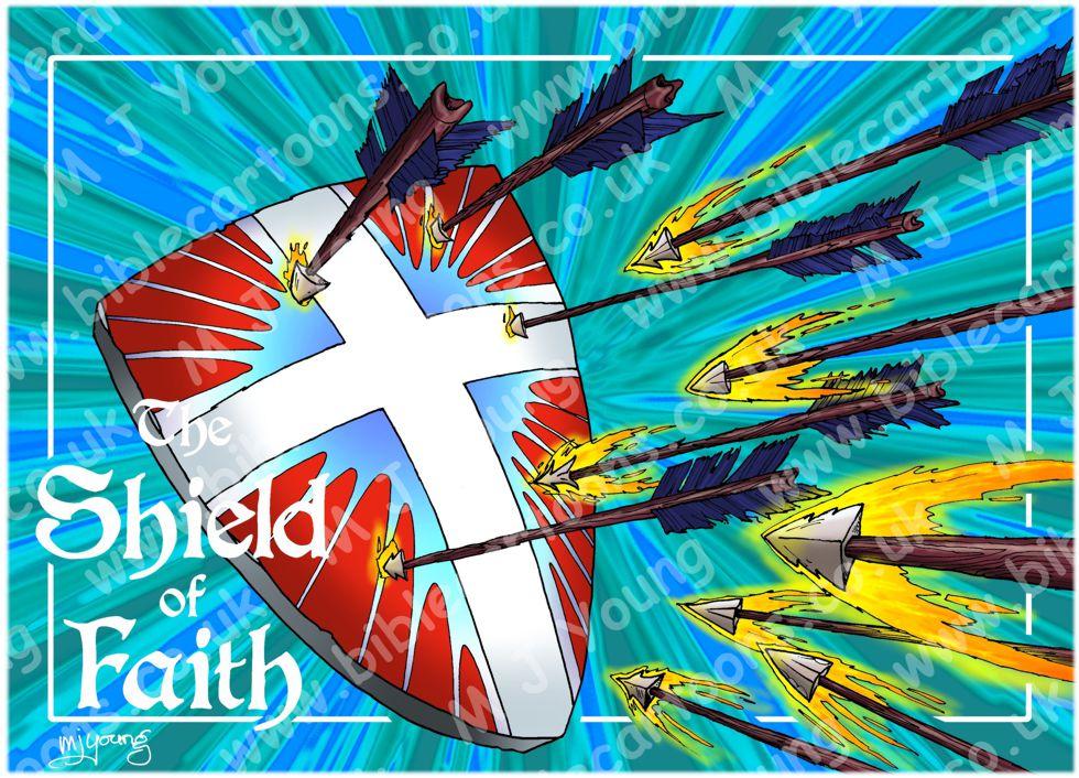 Ephesians 06 - Armour of God  - Shield (Blue)