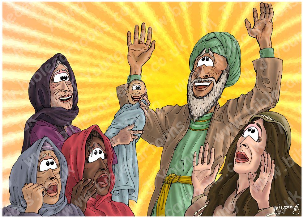 Luke 01 - Births foretold - Scene 13 - John named (Radiating)