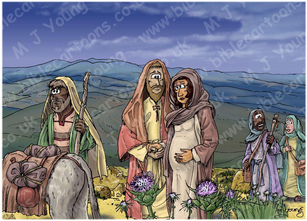 Luke 02 - Nativity SET02 - Scene 01 - Walking to Bethlehem (Dark version)