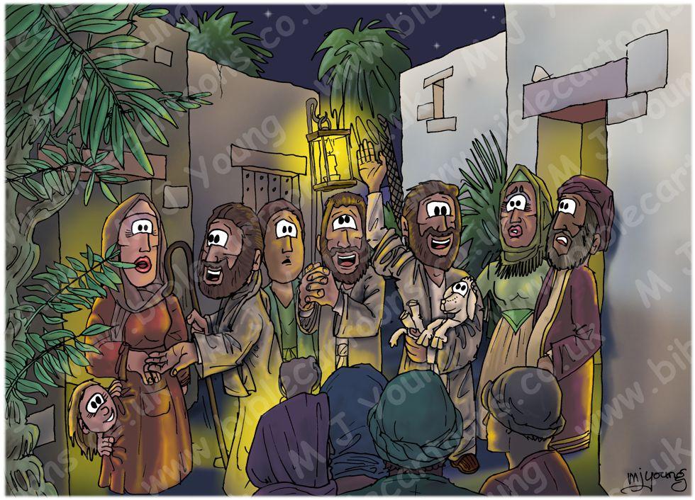 Luke 02 - Nativity SET01 - Scene 08 - Crowds astonished