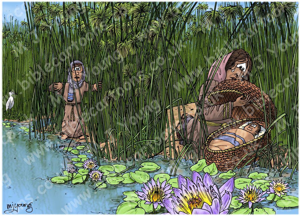 Exodus 02 - Birth of Moses - Scene 01 - Nile Basket