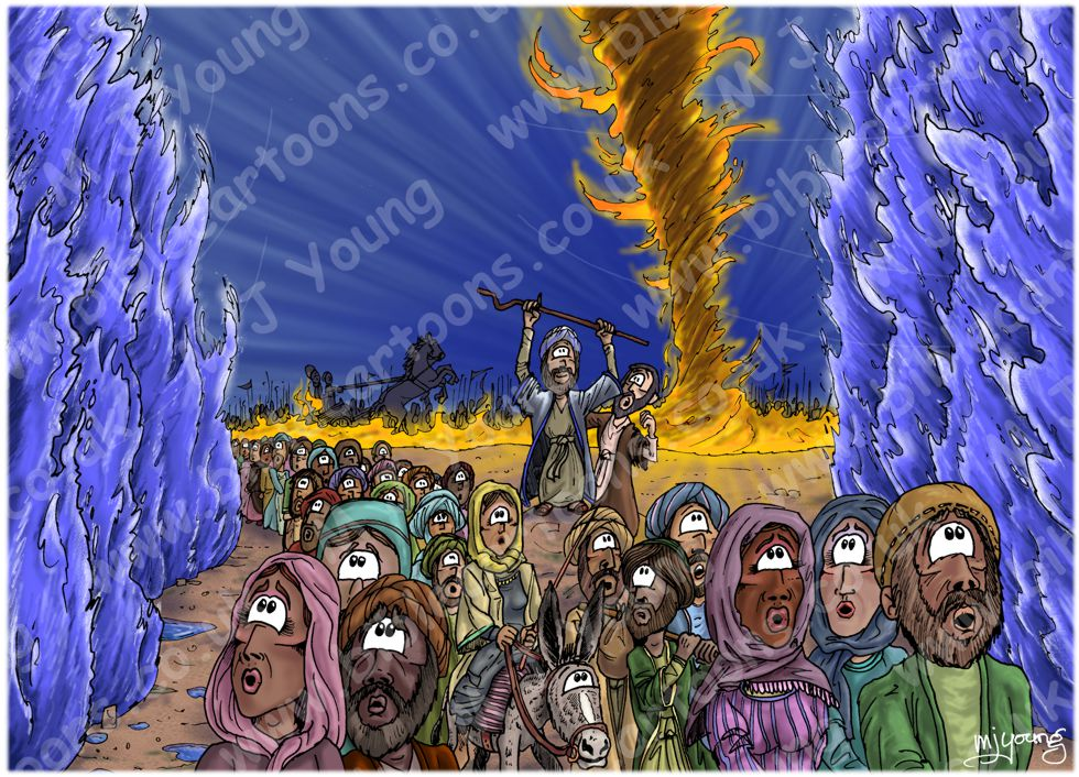 Exodus 14 - Parting of the Red Sea - Scene 10 - Walking through (version 03)