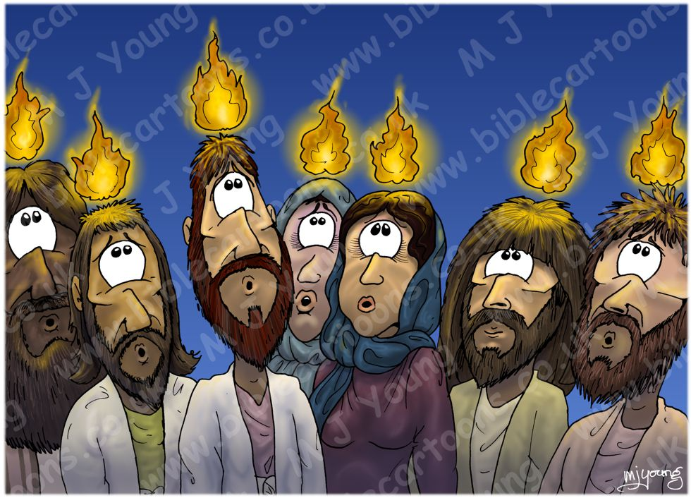 Acts 02 - Pentecost - Scene 04 - Fire (Flame glow version)
