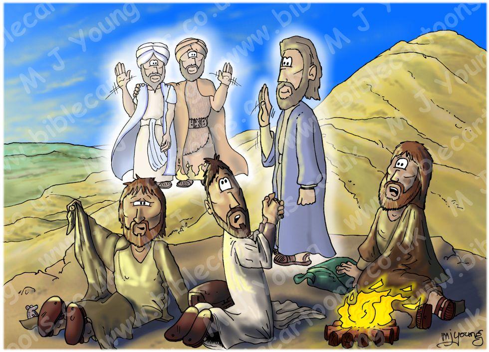 Luke 09 - The Transfig - Scene 04 - Disciples Awaken