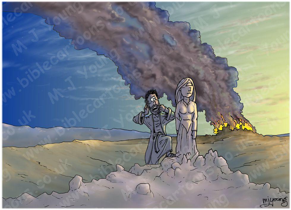Genesis 19 - Sodom & Gomorrah - Scene 09 - Pillar of Salt (Daybreak version)