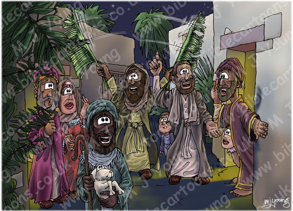 Luke 02 - Nativity SET02 - Scene 08 - Crowds astonished