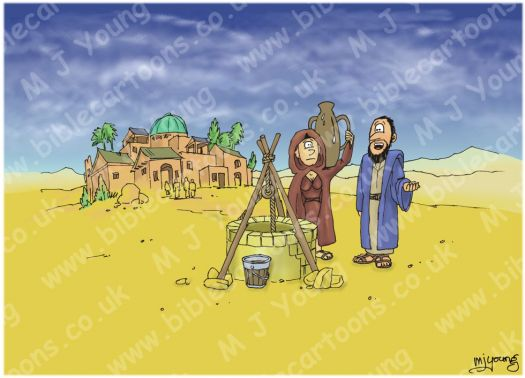 Jacobs Well In The Bible http://www.biblecartoons.co.uk/cartoons/john-04-woman-by-the-well